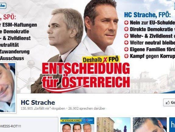 Wer auf Straches Facebook-Seite posten will, sollte sich überlegen was er schreibt.