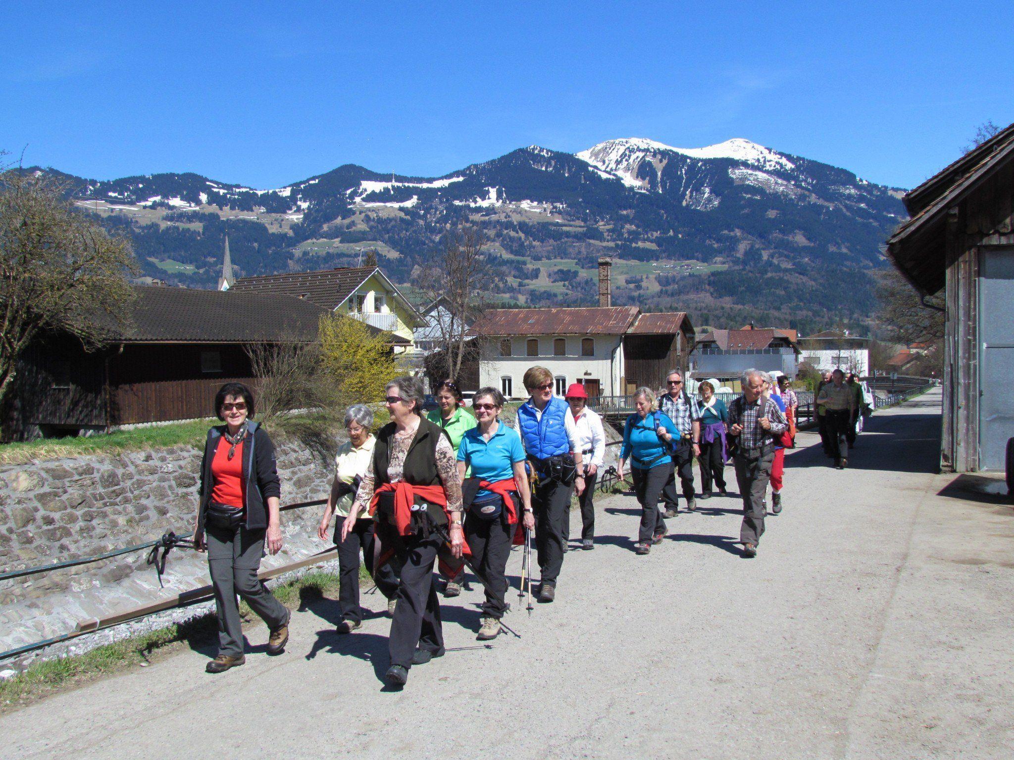 Kneipp Aktiv Club Altach entlang der Meng