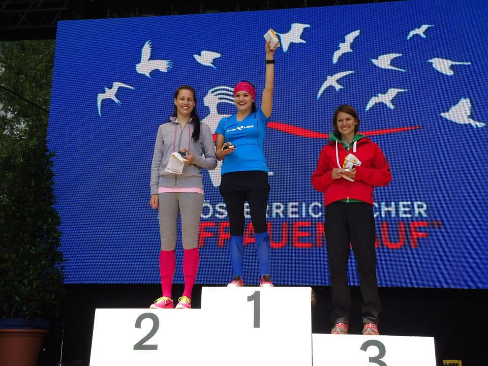 Die Bregenzerwälderin Verena Eugster gewinnt beim Frauenlauf in Wien die U-25-Altersstufe.