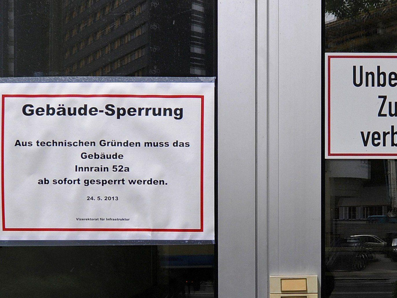 Radioaktive Strahlung in Innsbrucker Uni-Gebäude