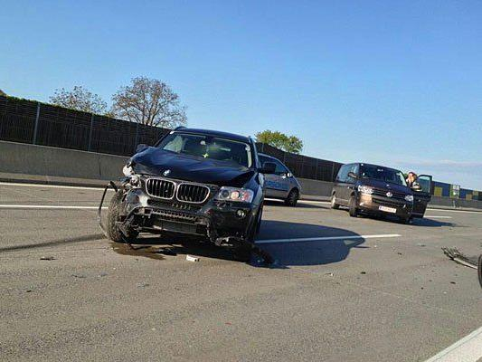 Auf der A1 im Amstetten kam es zu einer Unfallserie