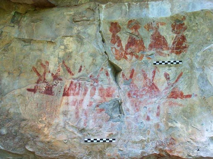 Die Malereien stammen von mindestens drei weitgehend unbekannten Kulturen.