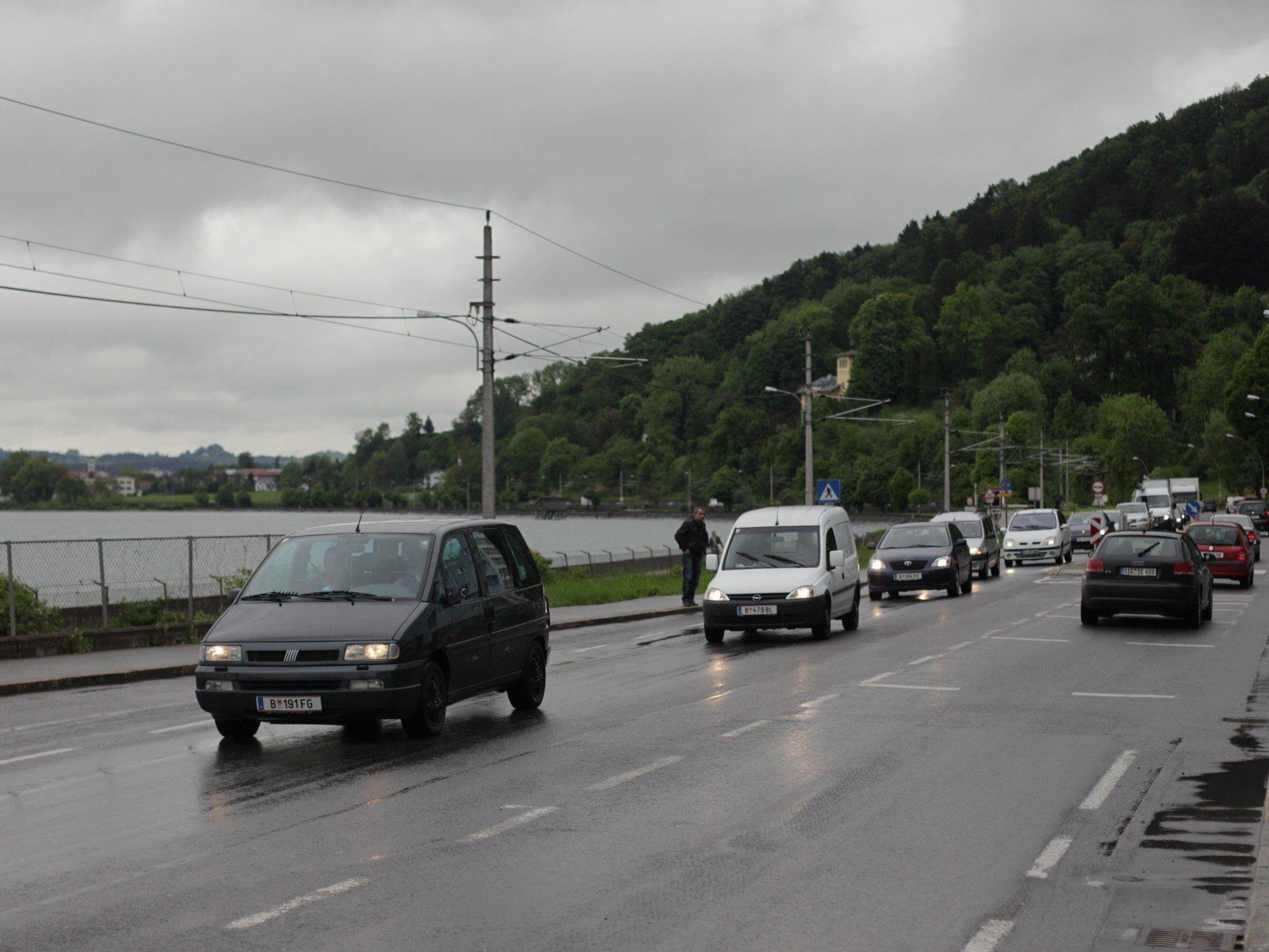 L 190 in Lochau: Tagesdurchschnitt 22.372, davon Schwerverkehr: 552. Top-Tag: 25. Februar, 28.723 Fahrzeuge.