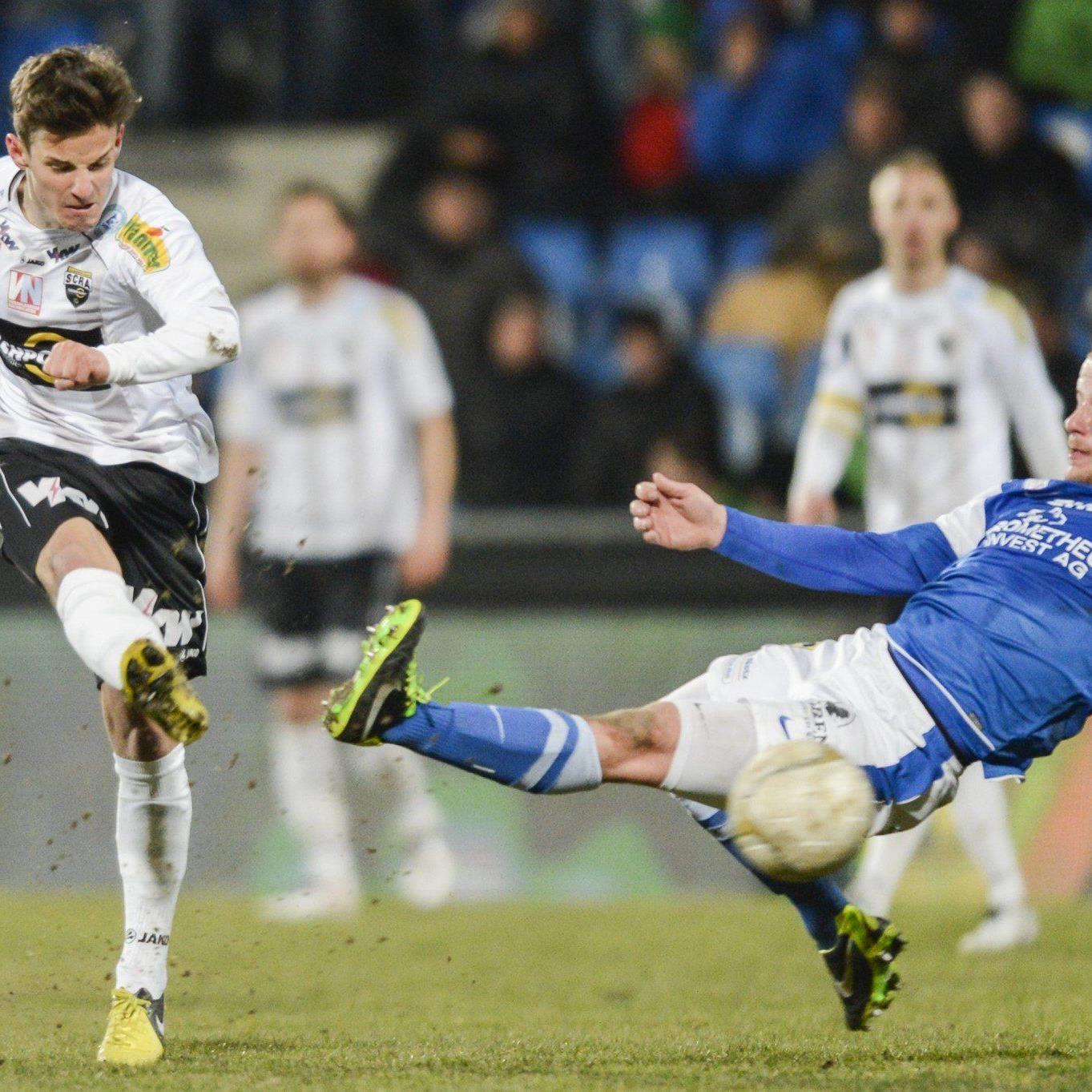 In der 33. Runde der Erste Liga kommt es am Freitag Abend zum Vorarlberg-Derby FC Lustenau gegen SCR Altach.