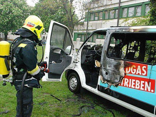 Dieser Erdgas-Wagen stand in Flammen