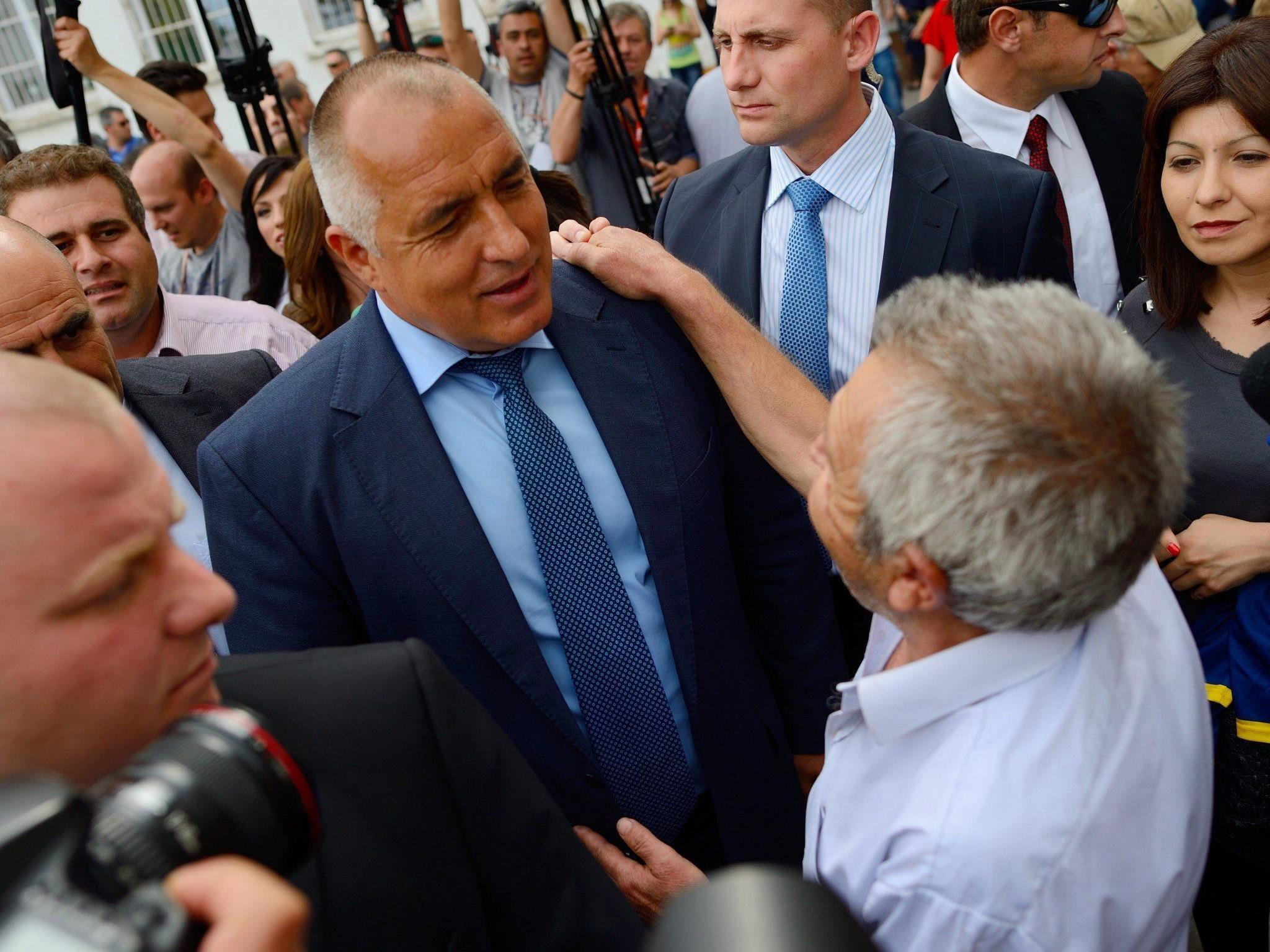 Exit Polls: Partei von Ex-Premier Bojko Borissow (im Bild) kommt auf 31,4 Prozent.
