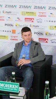 Elis Eiler, Ramazan Özcan und Marcel Büchel waren die Stargäste beim 3. Fußballtalk in Dornbirn.