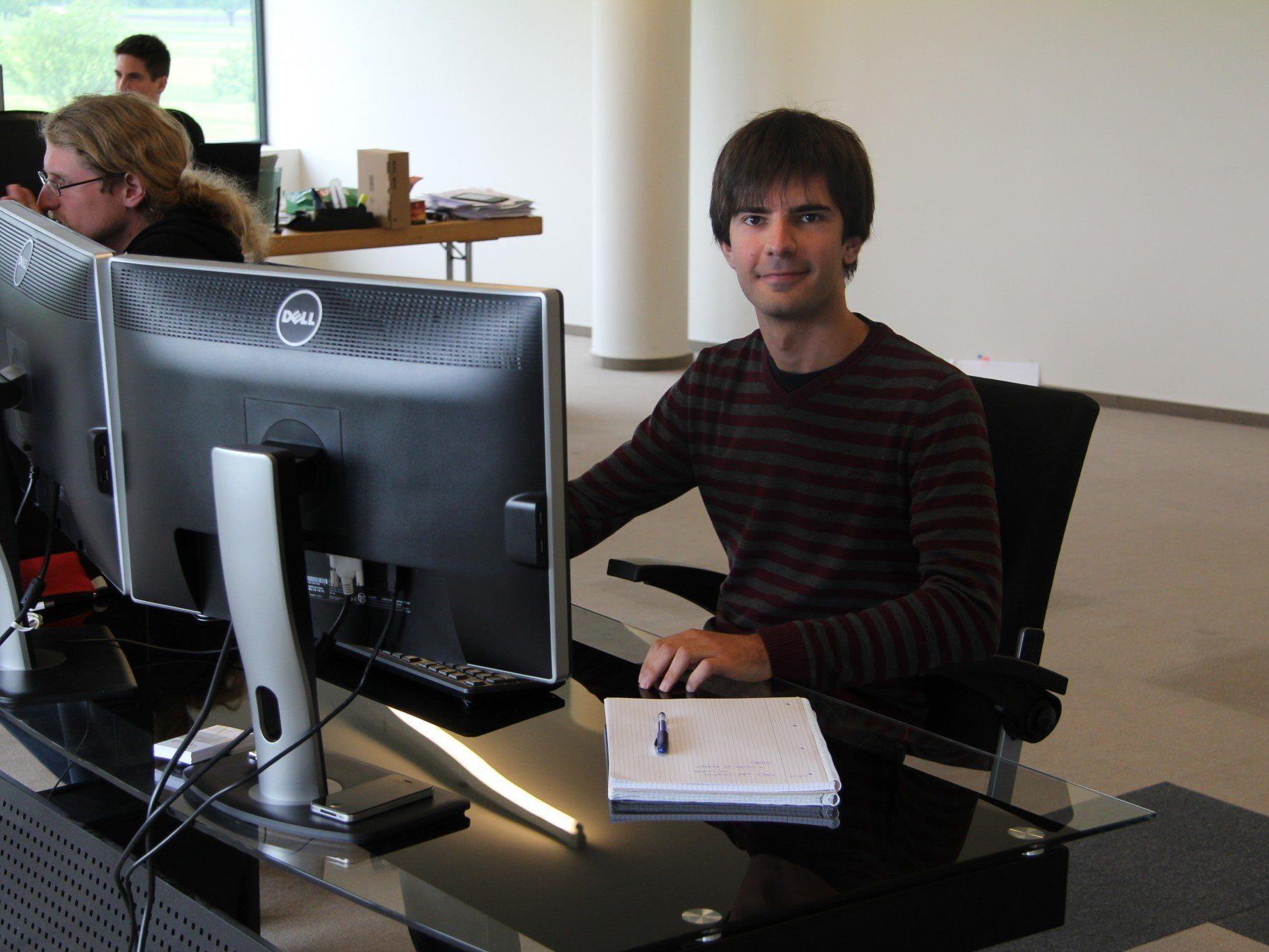 David Iglesias Fraga arbeitet als Software-Ingenieur bei der Firma Apricode in Lustenau.