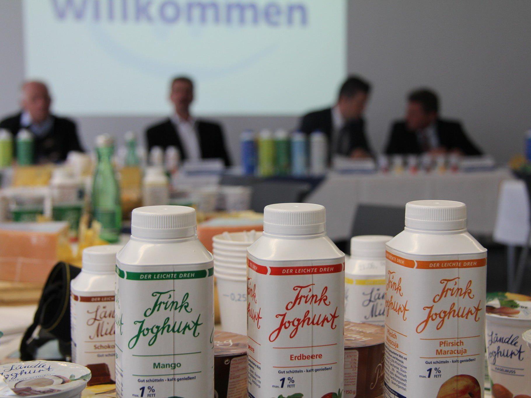 """Pressekonferenz der """"Vorarlberg Milch"""" in Feldkirch."""