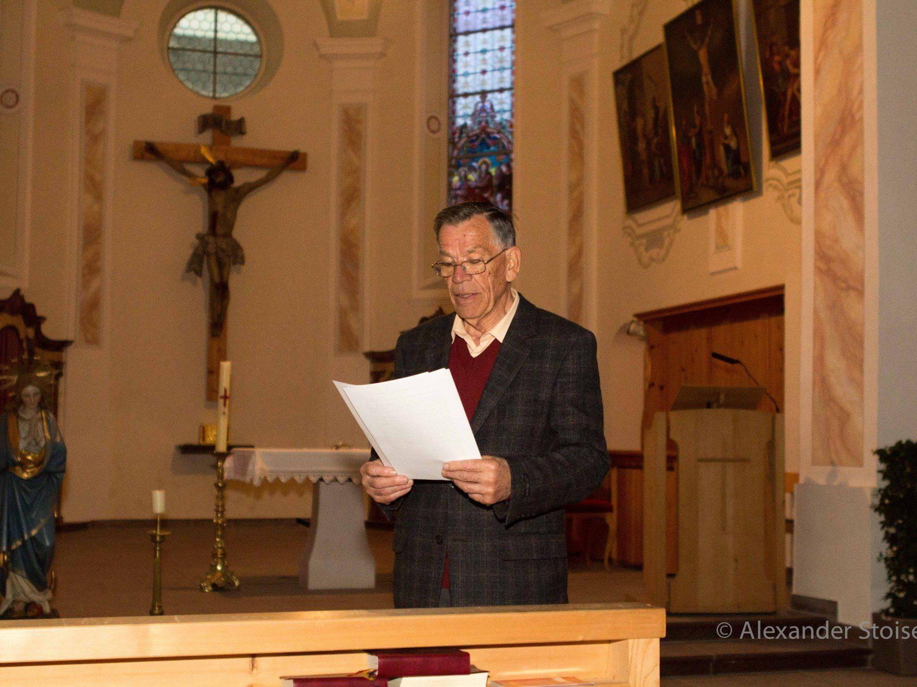 Rudolf Sagmeister wusste bei der langen Nacht in der Vandanser Kirche viel Interessantes zu berichten.