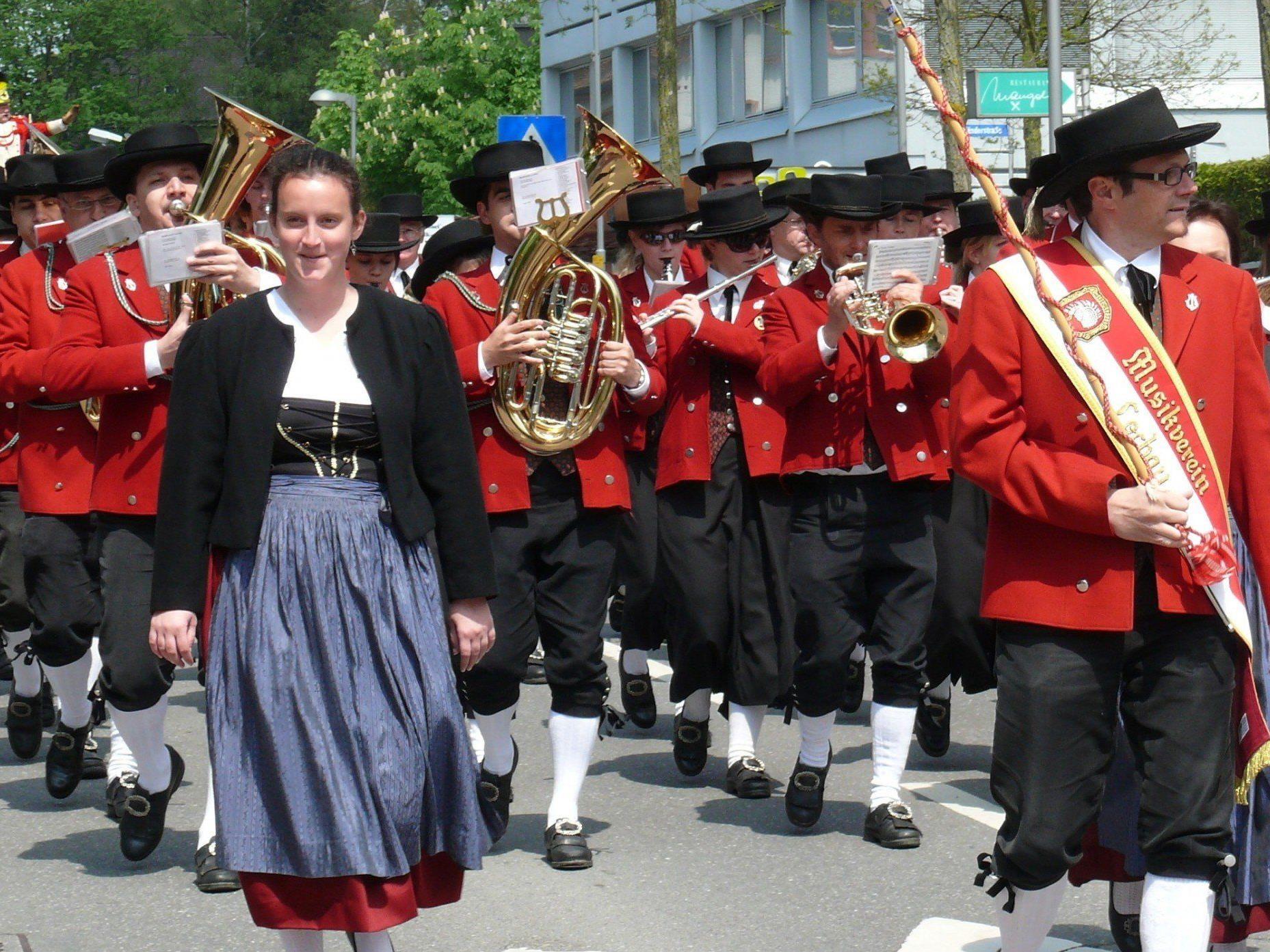 """Das """"Maiblasen"""" ist für den Musikverein Lochau schon seit vielen Jahren Tradition."""