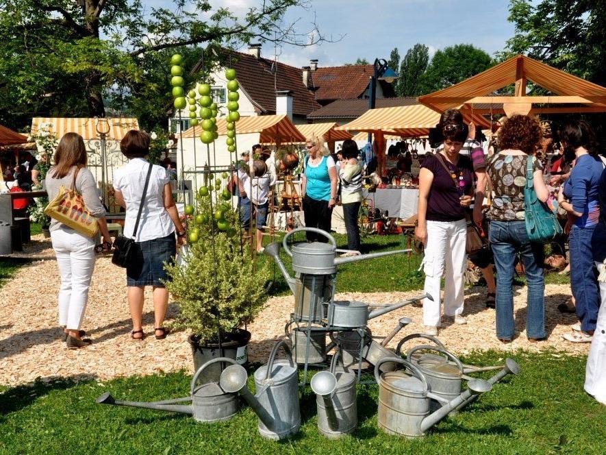 """Der """"Markt am Altacher Dorfplatz"""" ist wieder eine wahre Fundgrube für floristische und handwerkliche Raritäten."""