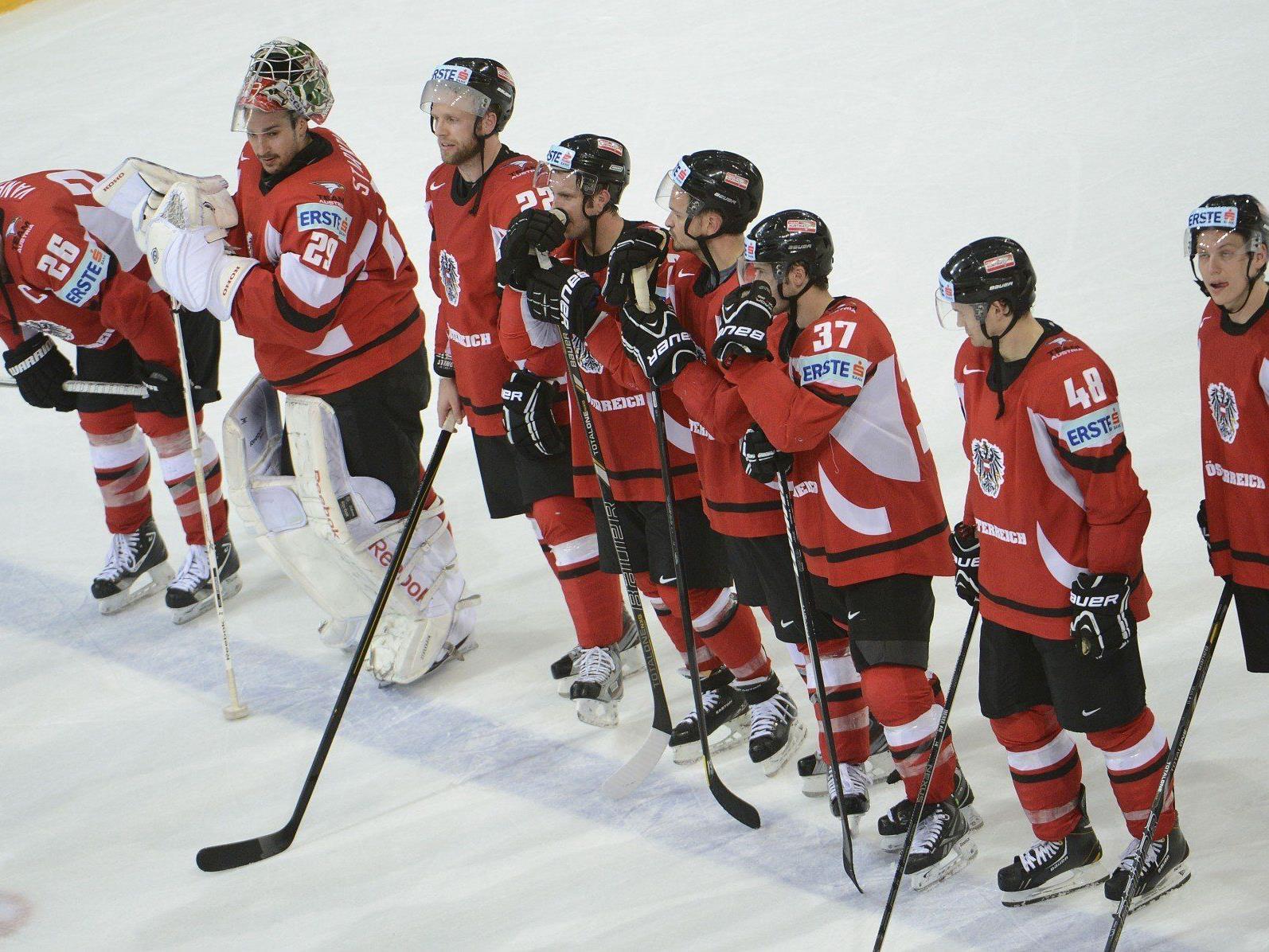 Österreich hielt Partie gegen Weltmeister Russland eineinhalb Drittel offen.