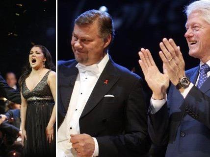 Bill Clinton war auch heuer wieder bei dem Konzert in Wien mit dabei.