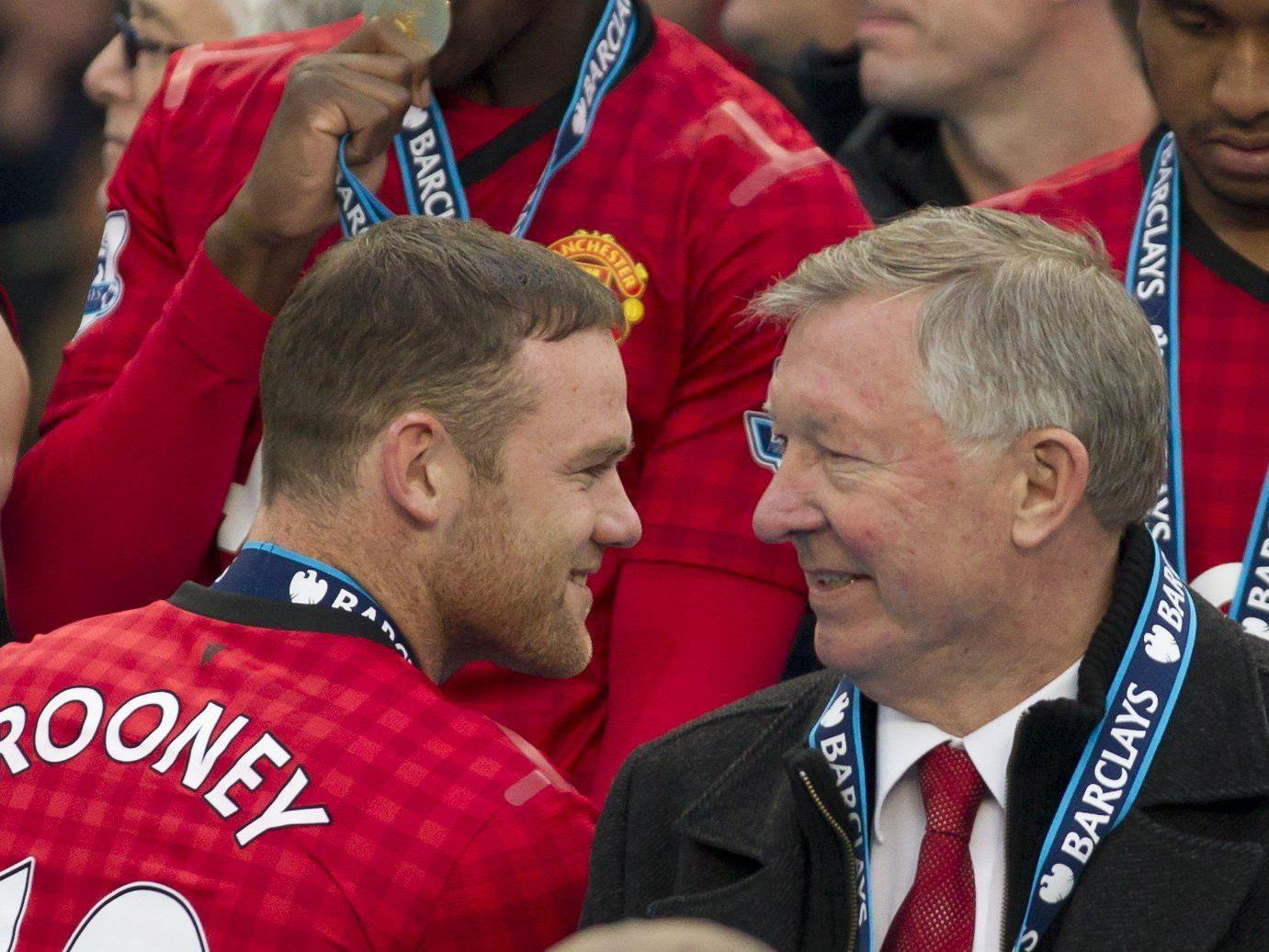 Wayne Rooney zollte Sir Alex Ferguson seinen Respekt.