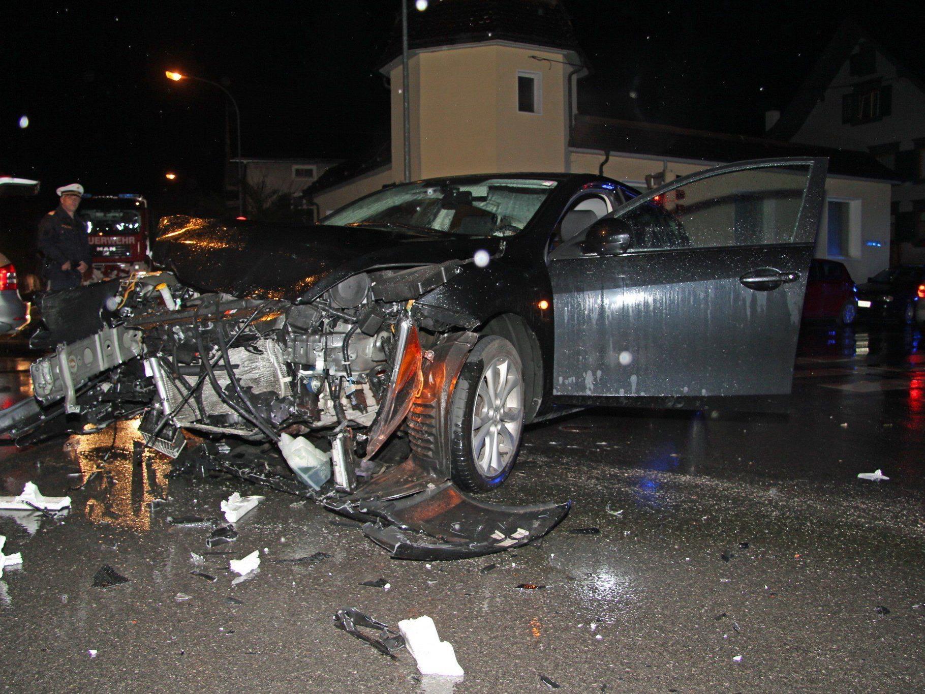 Mehrere Verletzte forderte ein Unfall in Dornbirn.