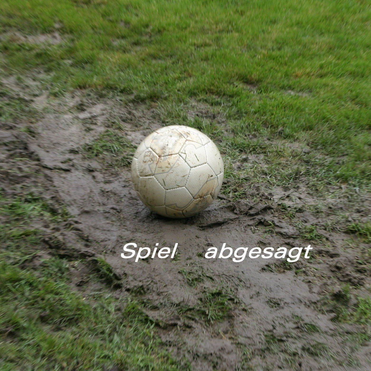 Viele Meisterschaftsspiele konnten wegen des Starkregen nicht ausgetragen werden.