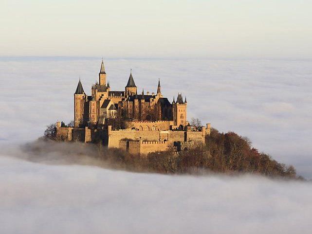Burg Hohenzollern in Baden-Württemberg, Deutschland.