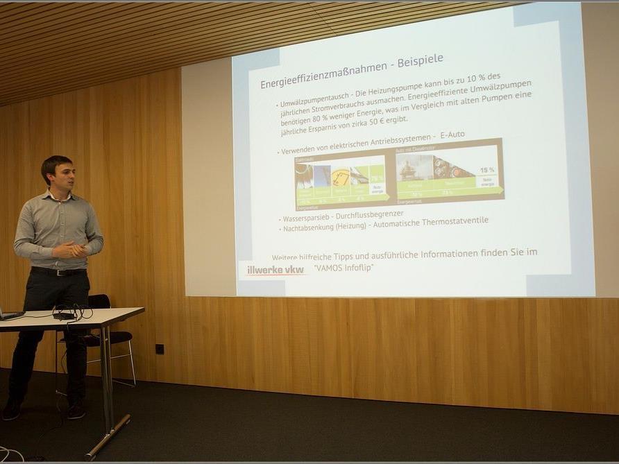 Philipp Österle beim Vortrag