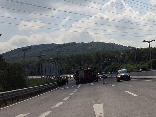 Beim Unfall auf der A1