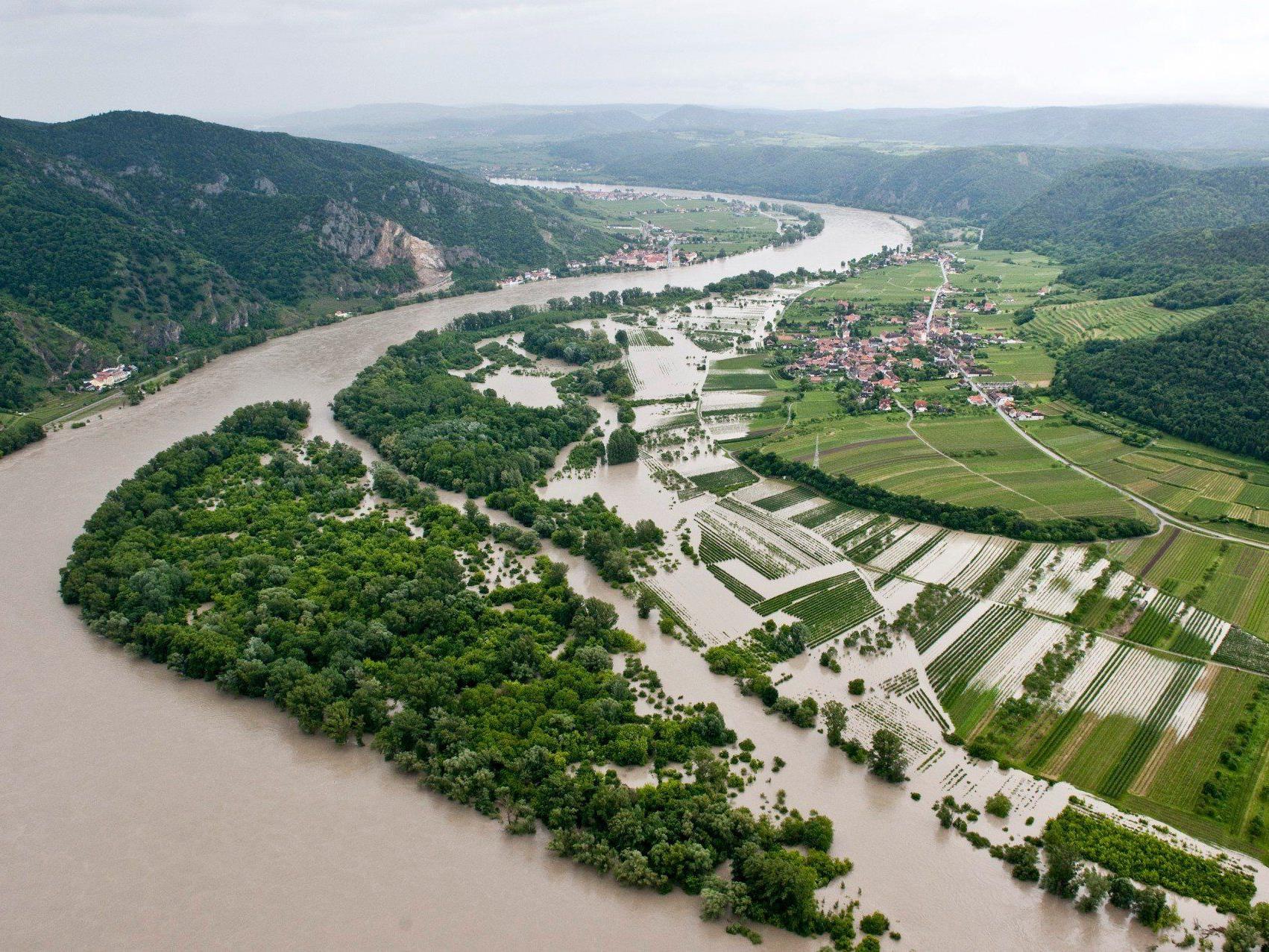 Hochwasser: Pegel der Donau steigt in NÖ und Wien noch