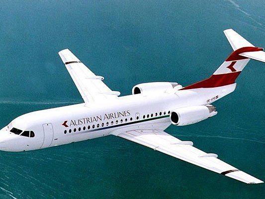 Größere Fokker der AUA fliegen am Dienstag von Wien nach Innsbruck
