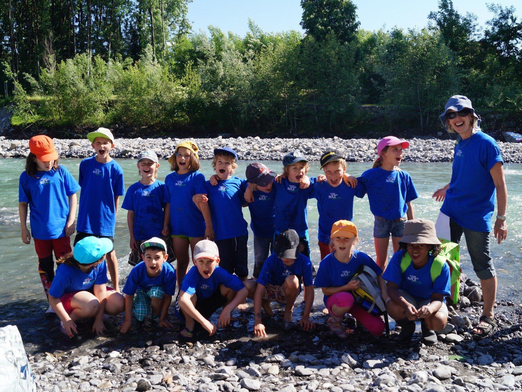 Die Kinder hatten riesen Spass beim Flussfest der Volksschule Sulz.