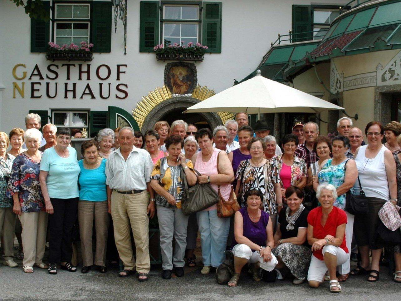 Bei herrlichem Wetter erlebten 50 Pensionisten wunderschöne Tage in Tirol.