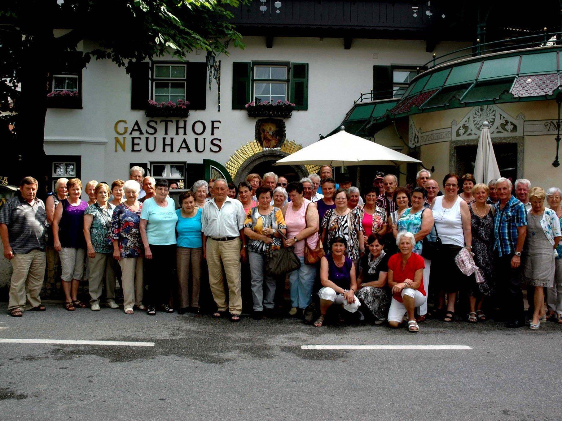 Bei herrlichem Wetter erlebten 50 Pensionisten wunderschöne Tage in Tirol