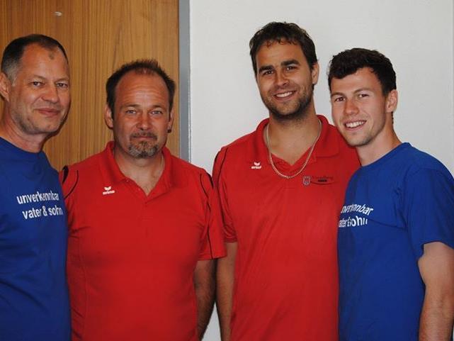 Christoph Sohm SVL, Mario Lampert und Steffen Hofmann CDE Dornbirn, Abraham Sohm SVL