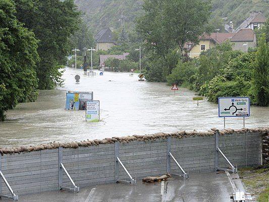 Das Hochwasser 2013 hatte weite Teile Österreichs fest im Griff - etwa Krems-Stein