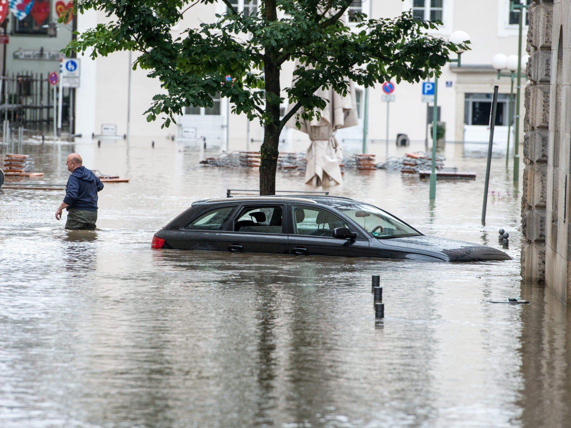 Das aktuelle Hochwasser in Passau fiel deutlich schlimmer aus als das von 1954.