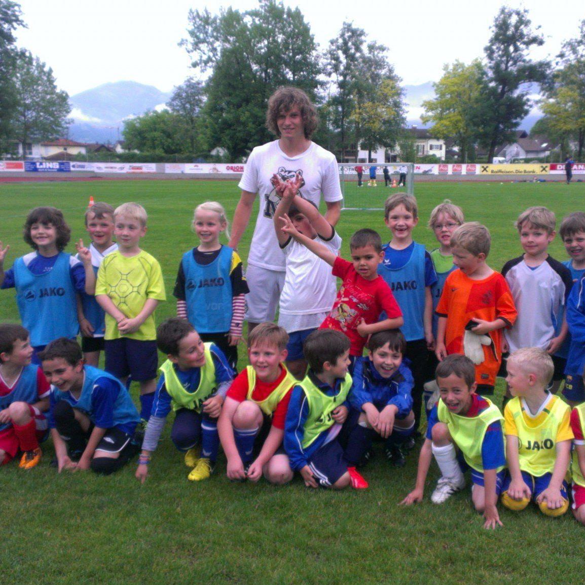 Marcel Büchel besuchte seinen Stammklub FC BW Feldkirch.