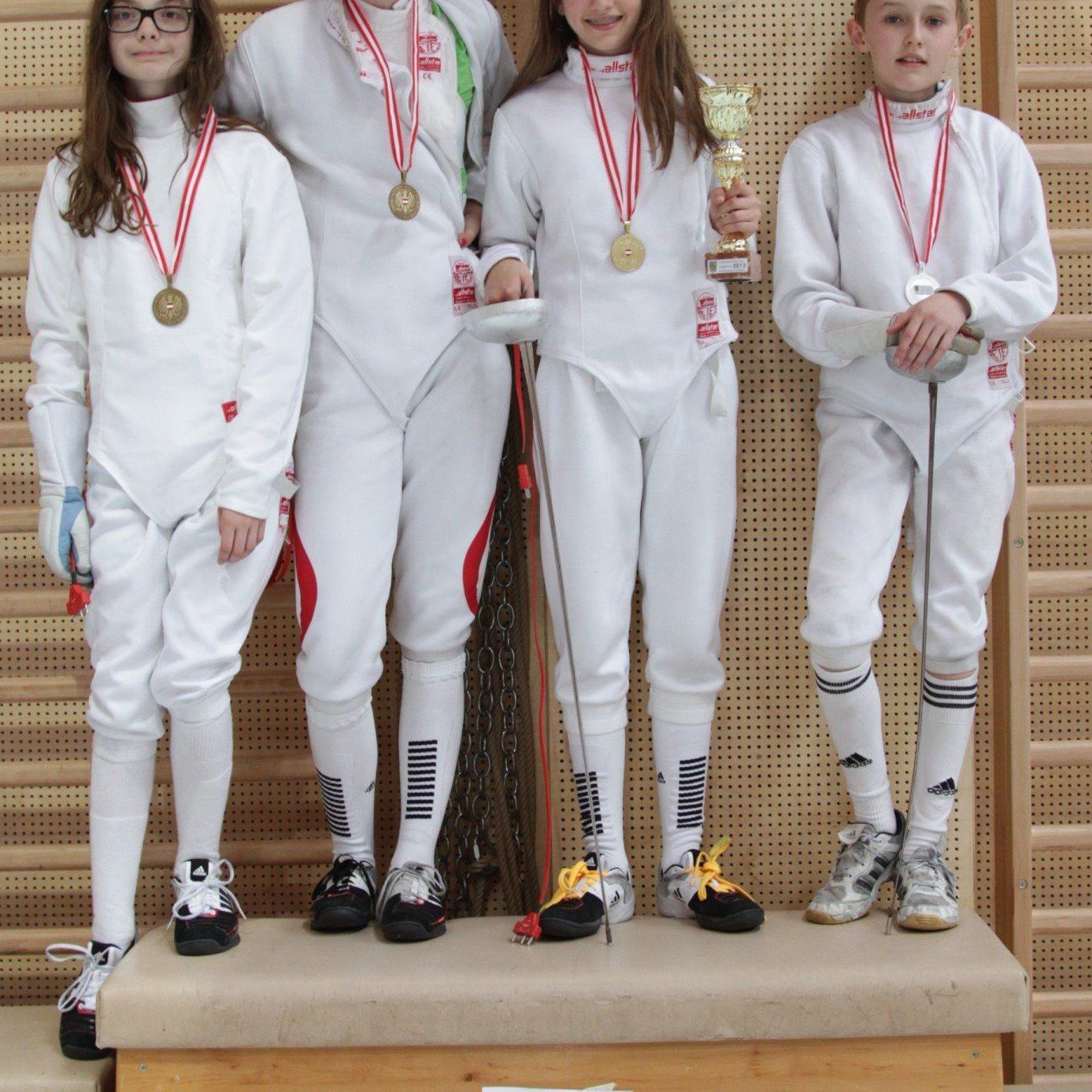 vlnr: Jeannine Terzer, Julia Monschein, Antonia Grabher, Samuel Berktold