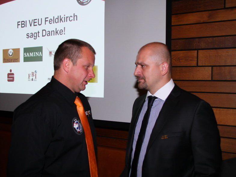 VEU Feldkirch Geschäftsführer Michi Lampert und Neocoach Milos Holan sind mit der Zusammenstellung dran.