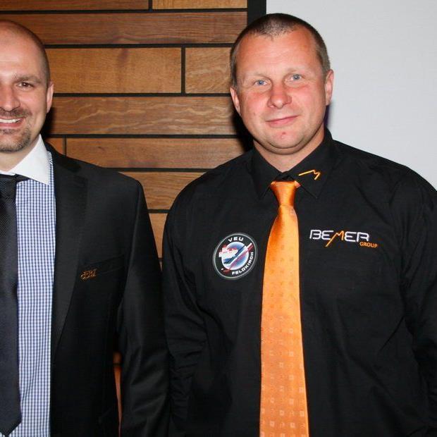 VEU-Geschäftsführer Michael Lampert und Neocoach Milos Holan stecken derzeit in der Kaderplanung