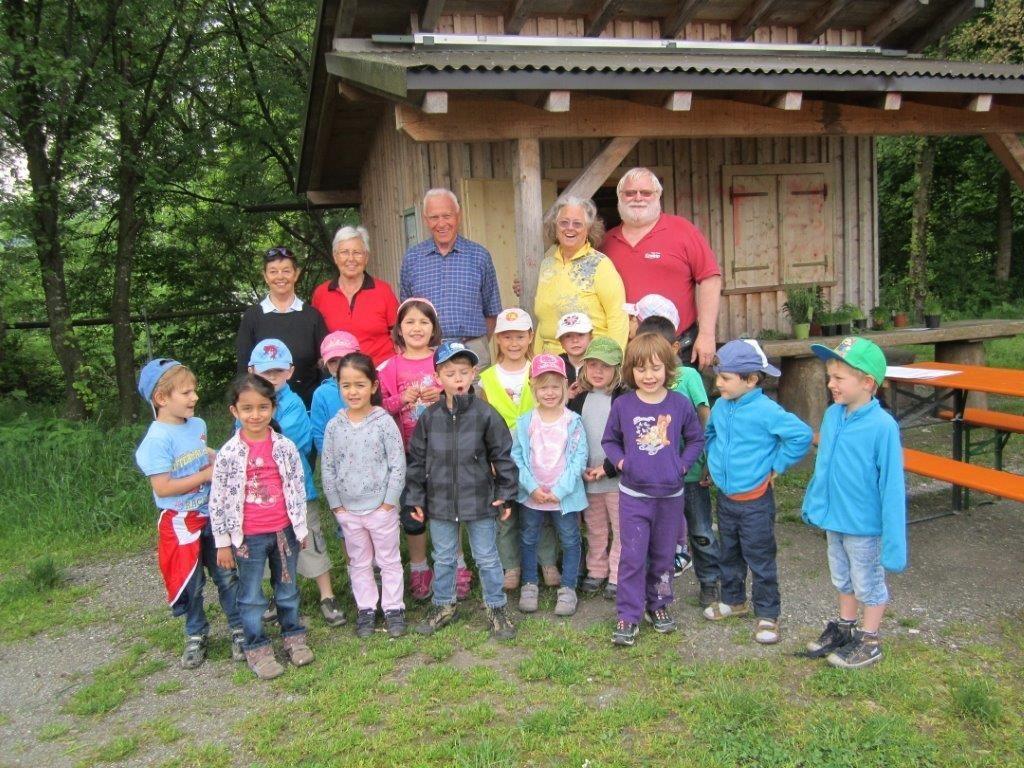 Viel Wissenswertes wurde den Kindern vom Kindergarten Sulz vermittelt.