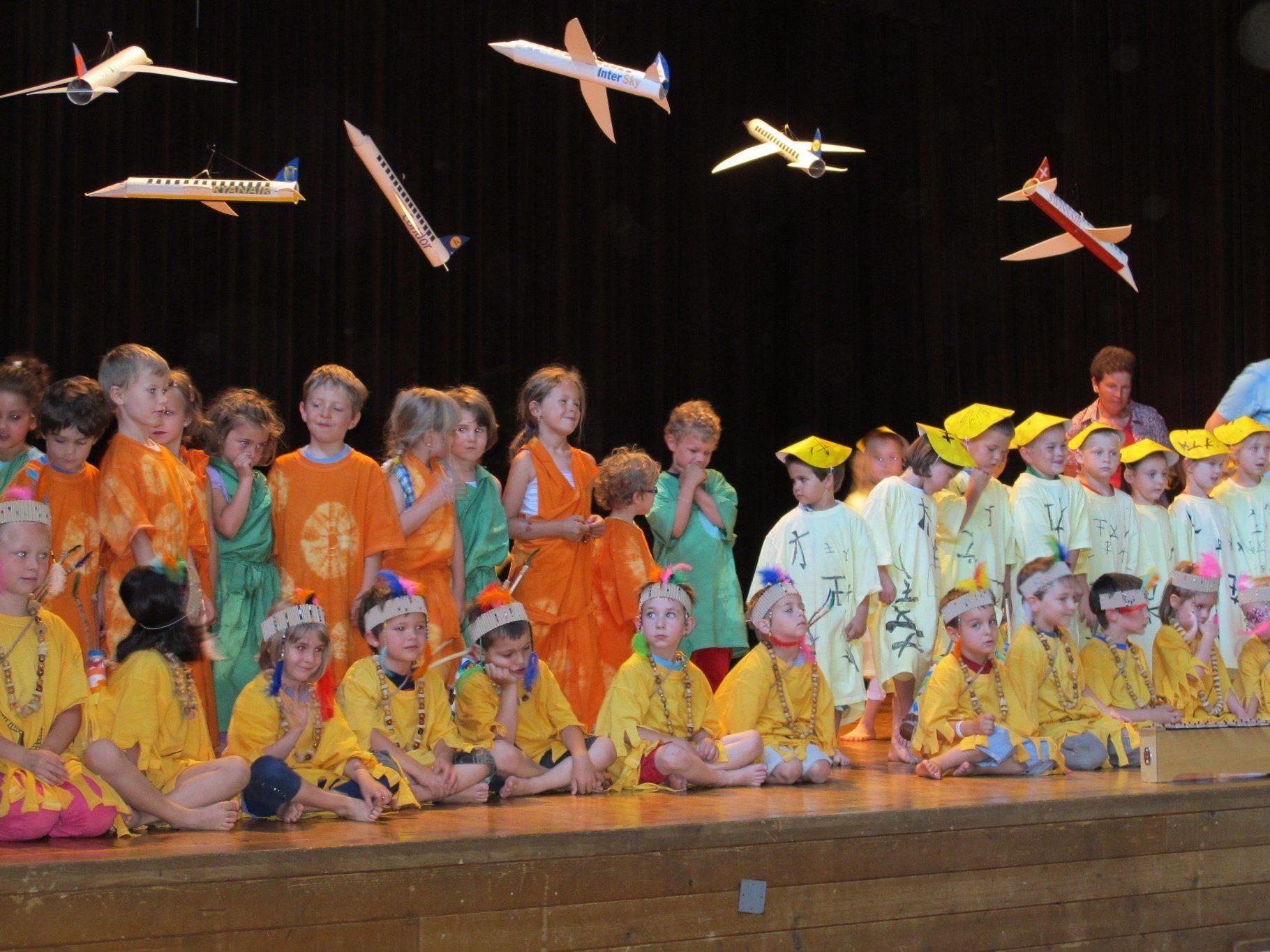 Die Kinder meisterten die Präsentation mit Bravour.