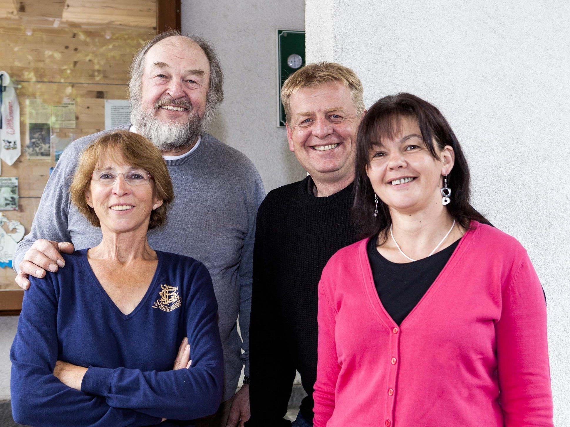 Bild von links nach rechts: Machteld und Tone Matt, Petra und Heinz Gorbach