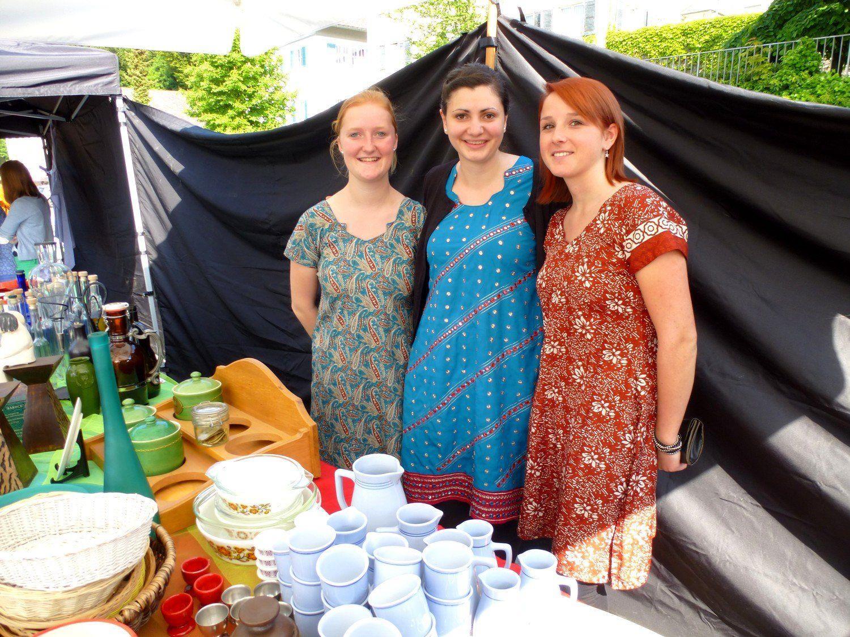 Andrea, Cornelia und Aurelia im Dienst der guten Sache.