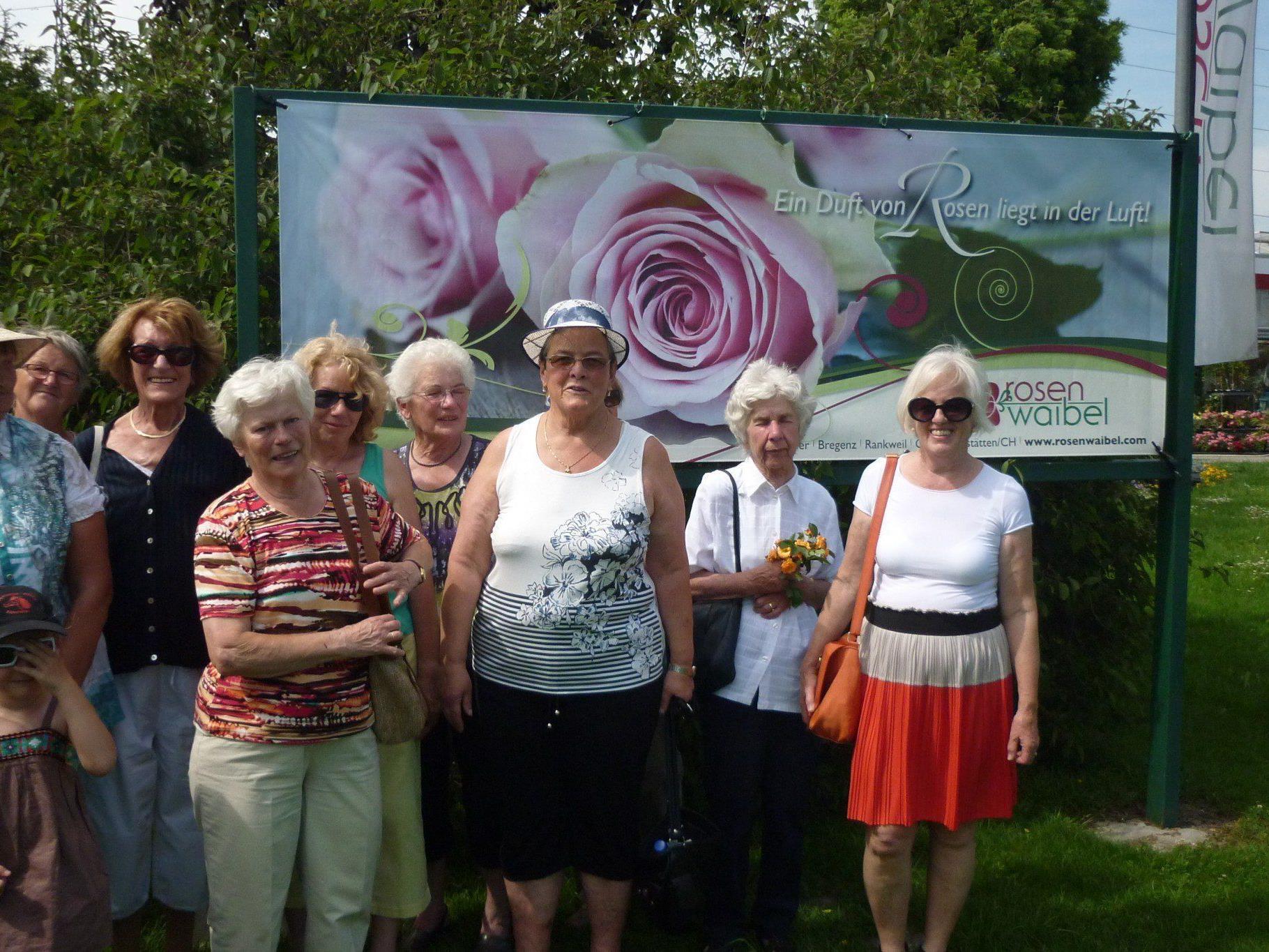 Sulner Senioren bei Rosen Waibel