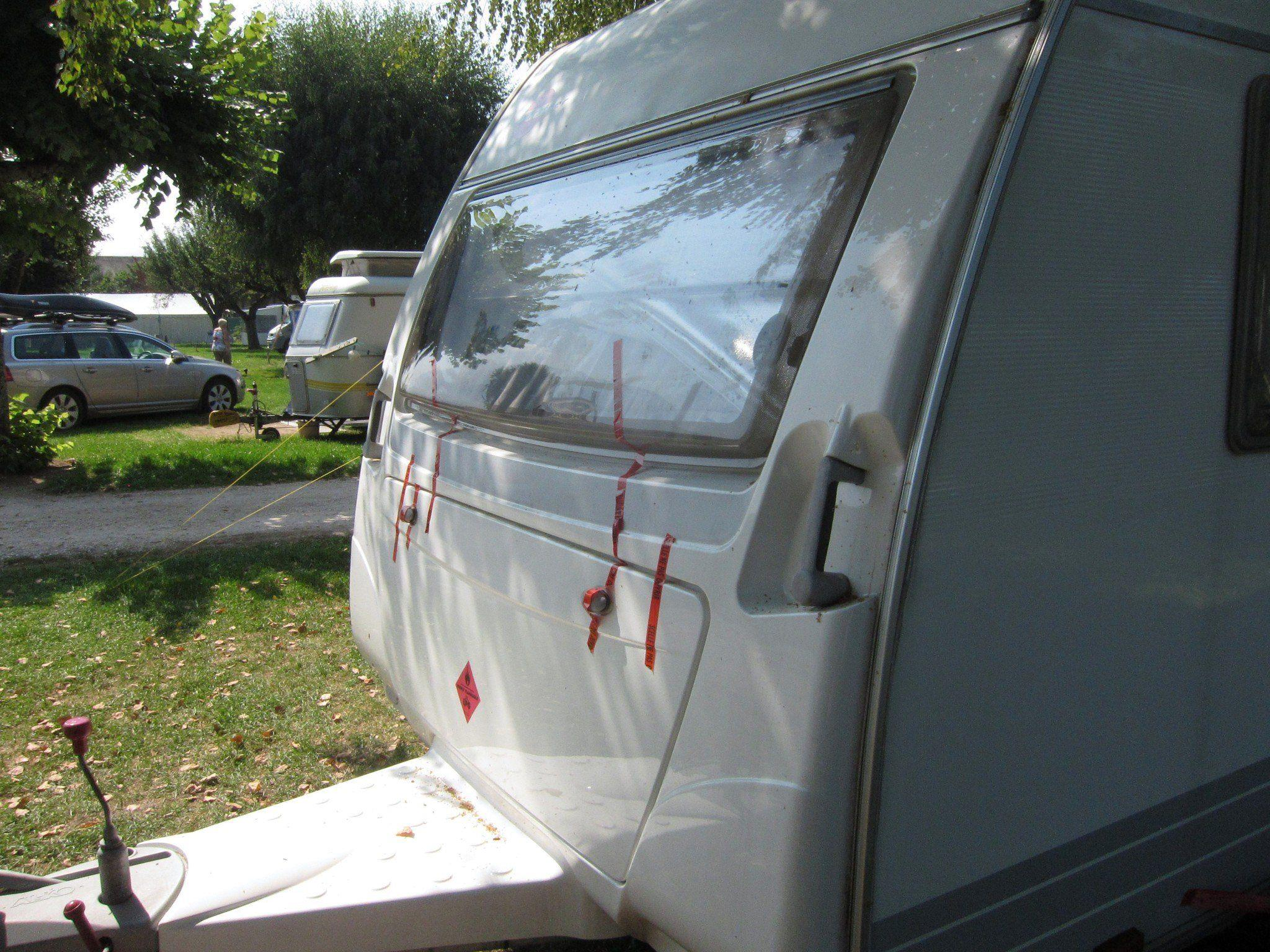 Der Wohnwagen, in dem sich vor zehn Monaten das Drama von Annecy abspielte.