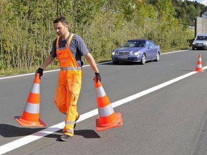 Erste Hitzeschäden auf der A1 wurden bereits behoben.