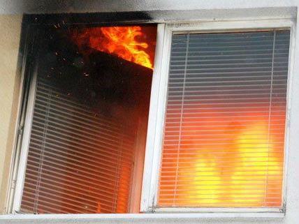 Zwei Personen wurden aus der brennenden Wohnung gerettet.