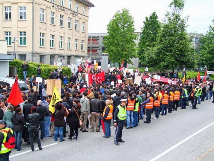 Bereits am 2. Juni fand in Bregenz eine Demo statt