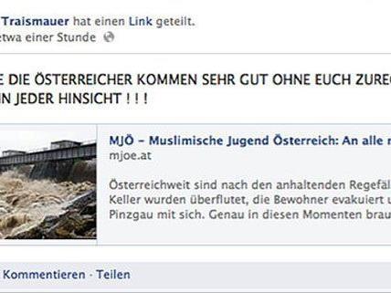 Auf Facebook erlaubte sich die FPÖ Traismauer den Fauxpas.