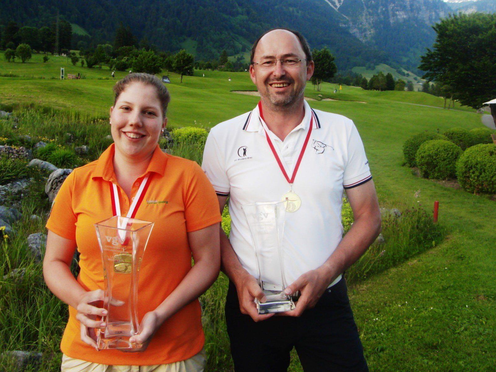 Die neuen Landesmeister im Golf: Schittl und Unterweger wurden der Favoritenrolle gerecht.
