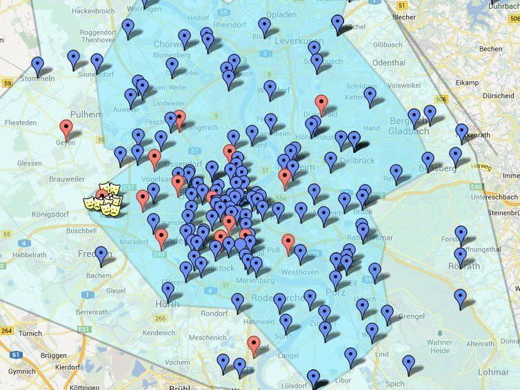 """Die """"Stinkekarte"""" auf Google Maps"""