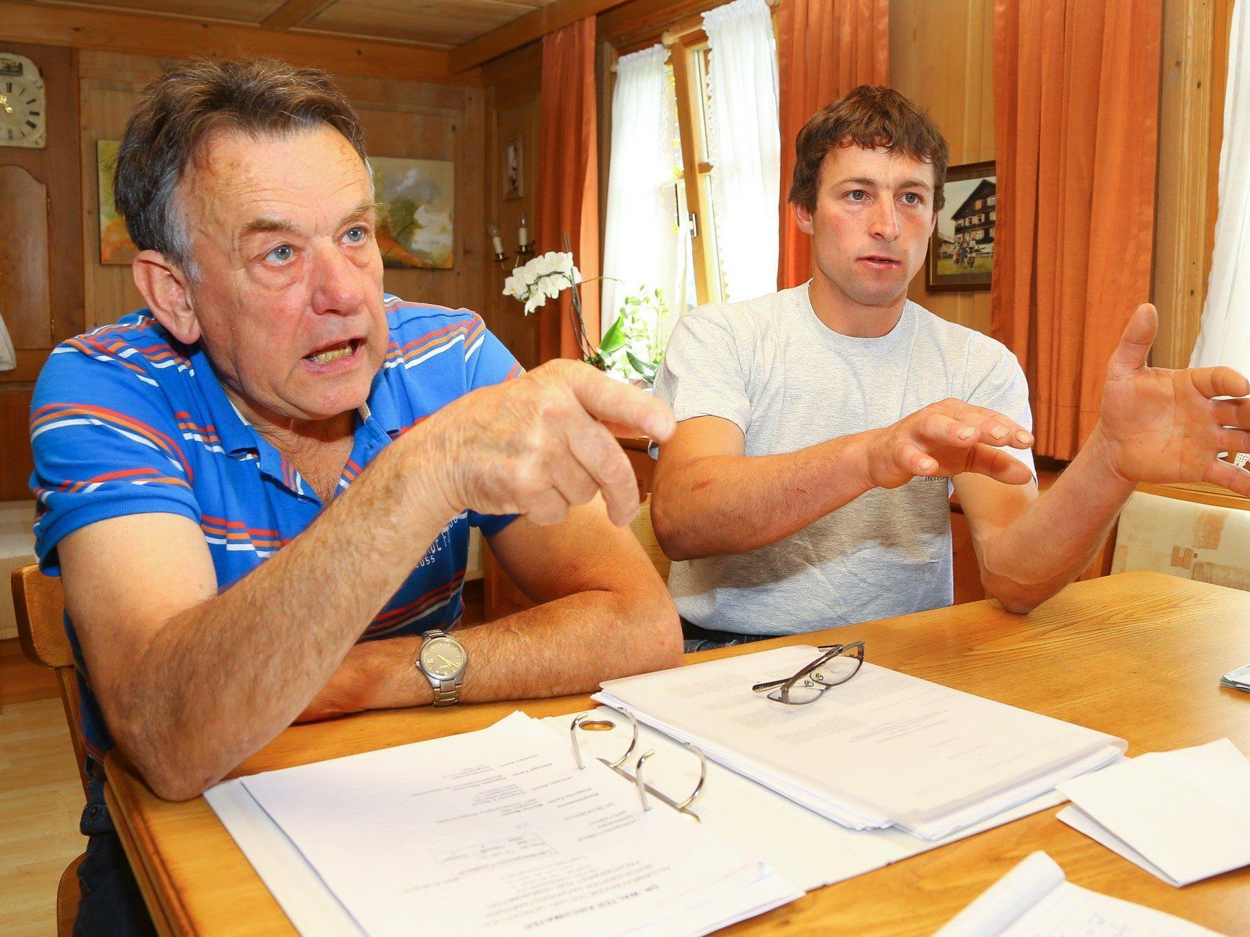Markus Metzler und seinem Vater Melchior sind trotz Happy End noch immer aufgebracht.