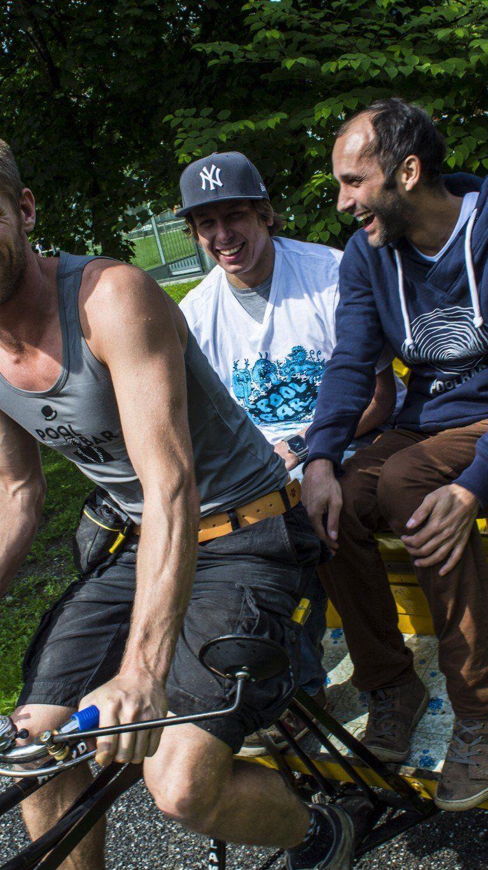 Bei einer äußerst amüsanten Ausfahrt mit der der Poolbar-Festival-Rikscha sprach WANN &WO mit Geschäftsführer Herwig Bauer.
